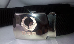 devanetbelt engraved clutch buckle